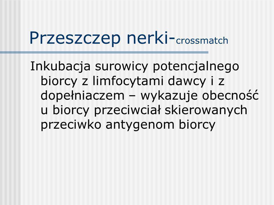 Przeszczep nerki-crossmatch