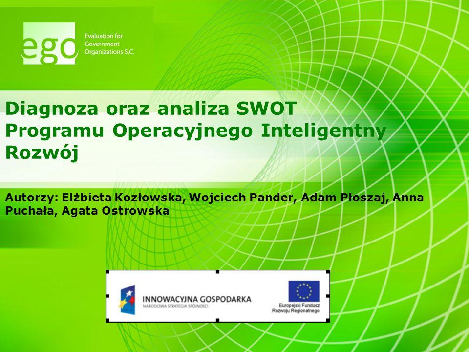 Diagnoza oraz analiza SWOT Programu Operacyjnego Inteligentny Rozwój