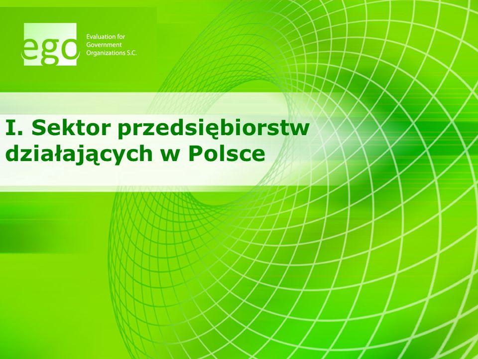 I. Sektor przedsiębiorstw działających w Polsce