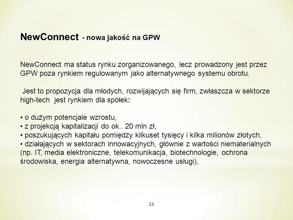 NewConnect - nowa jakość na GPW