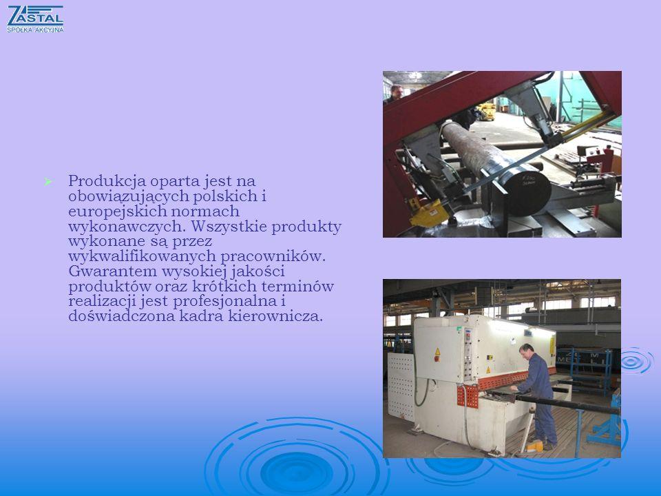 Produkcja oparta jest na obowiązujących polskich i europejskich normach wykonawczych.