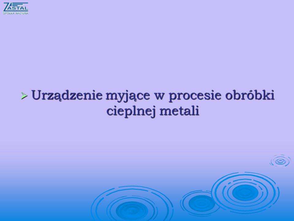 Urządzenie myjące w procesie obróbki cieplnej metali