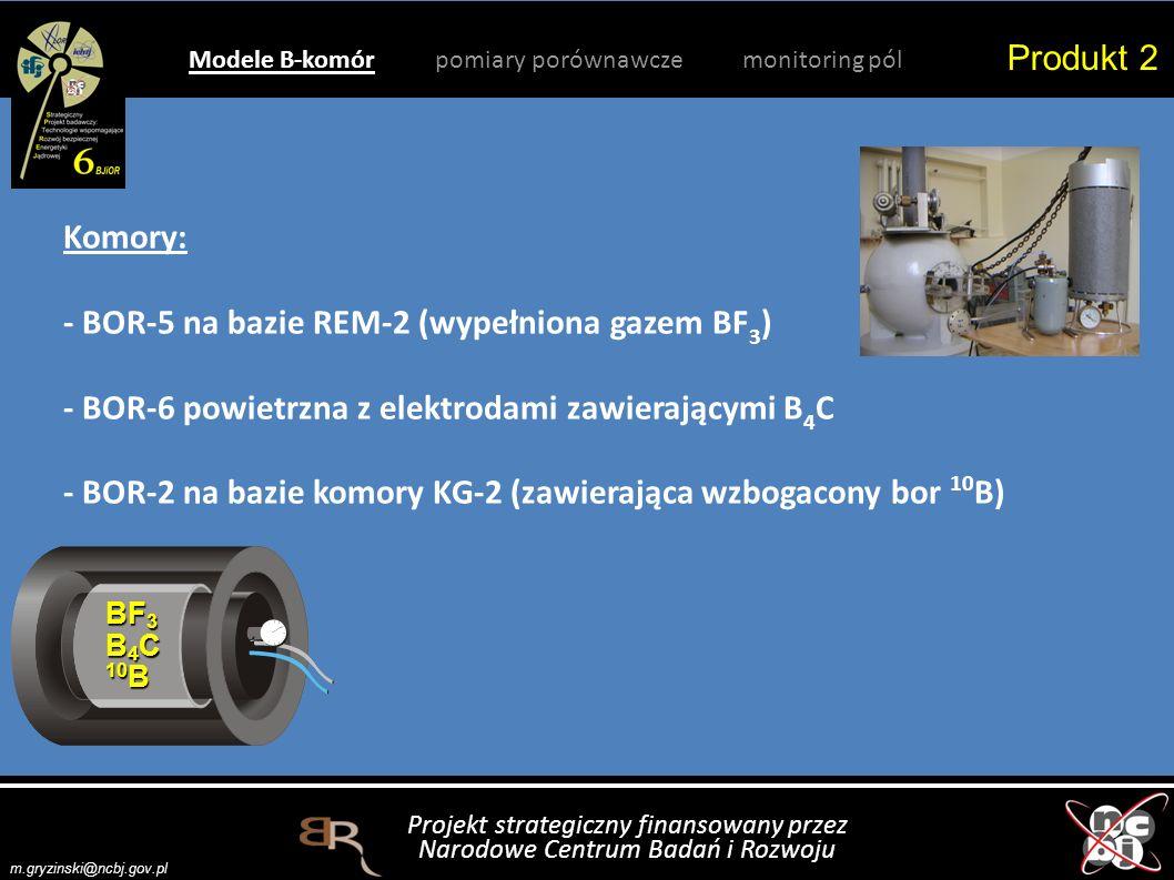 Produkt 2 Modele B-komór pomiary porównawcze monitoring pól.