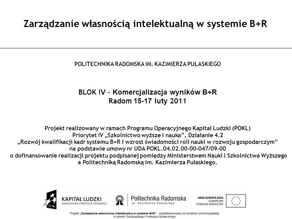 Zarządzanie własnością intelektualną w systemie B+R