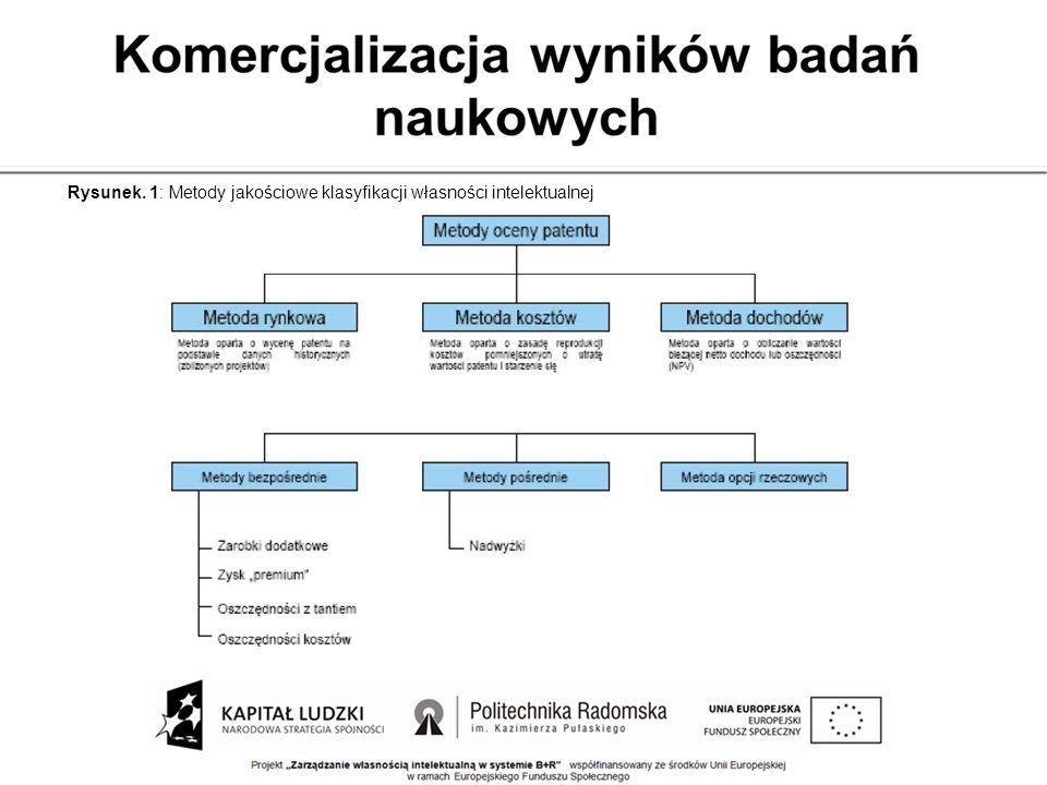 Rysunek. 1: Metody jakościowe klasyfikacji własności intelektualnej
