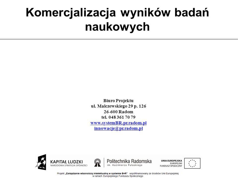 Biuro Projektu ul. Malczewskiego 29 p. 126. 26-600 Radom. tel. 048 361 70 79. www.systemBR.pr.radom.pl.