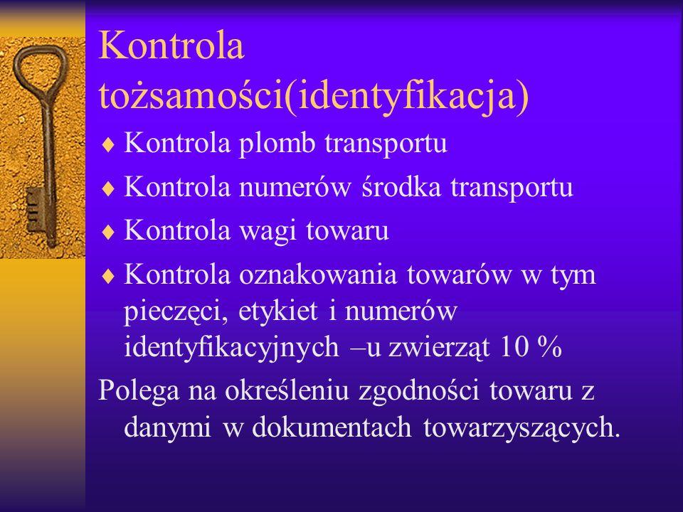 Kontrola tożsamości(identyfikacja)