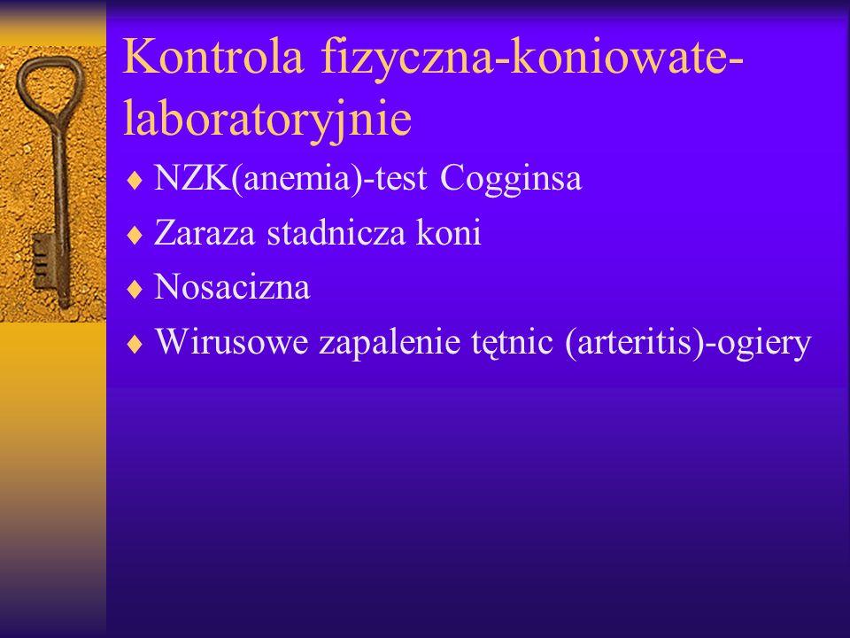 Kontrola fizyczna-koniowate-laboratoryjnie