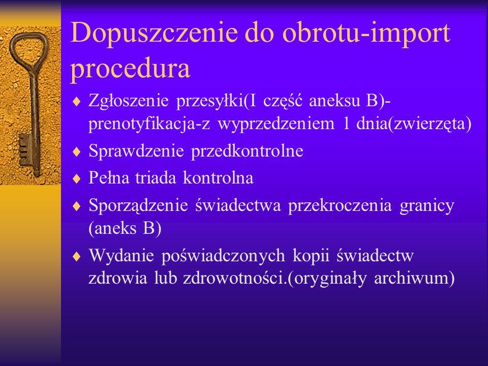 Dopuszczenie do obrotu-import procedura