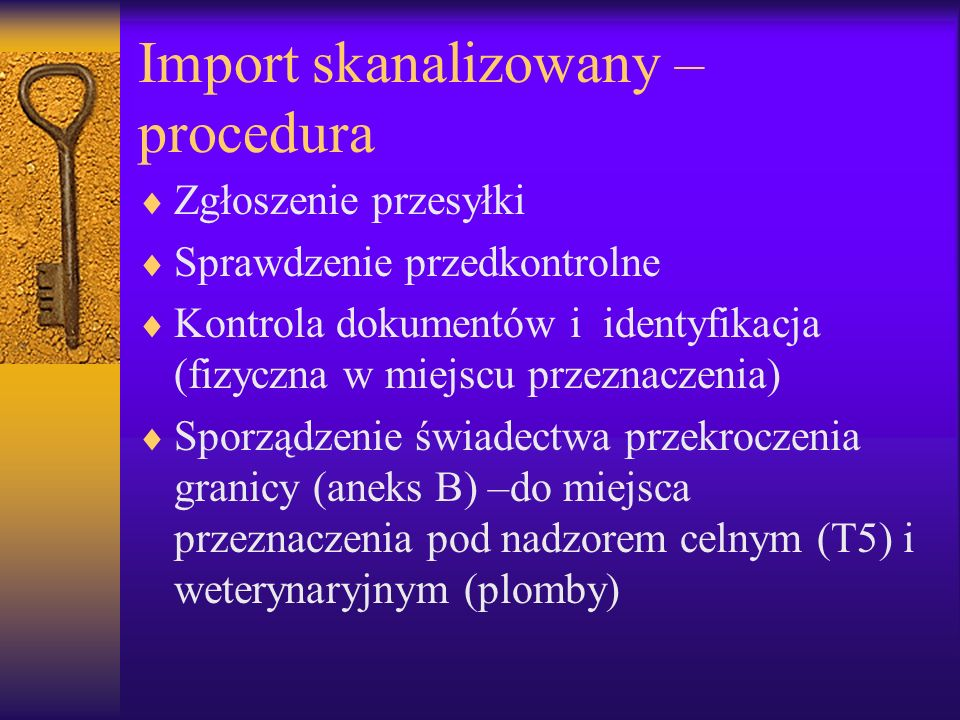 Import skanalizowany –procedura