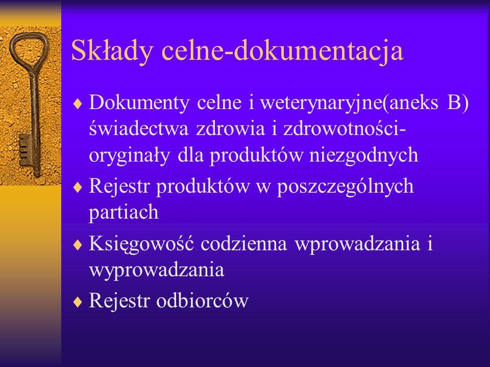 Składy celne-dokumentacja