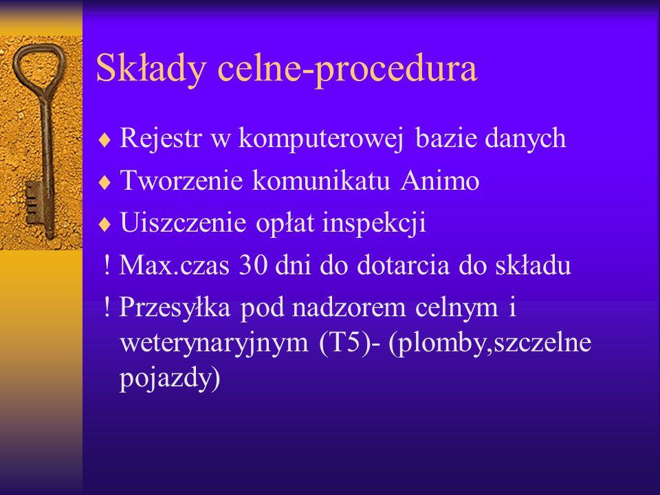 Składy celne-procedura