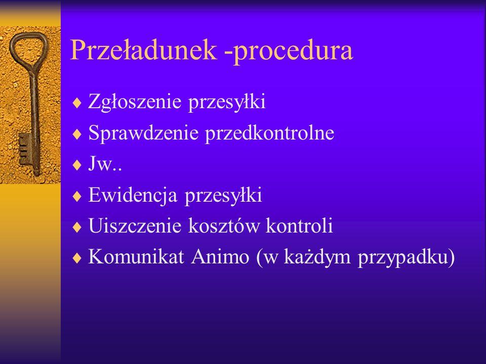 Przeładunek -procedura