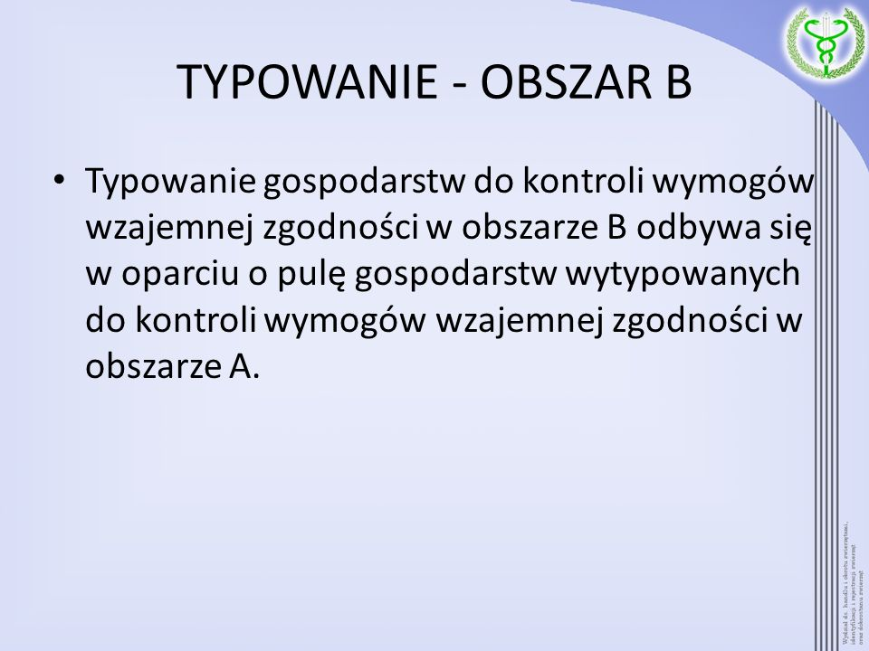 TYPOWANIE - OBSZAR B