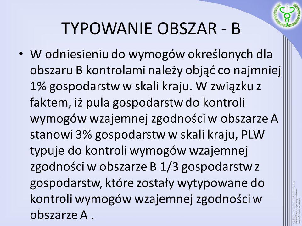TYPOWANIE OBSZAR - B