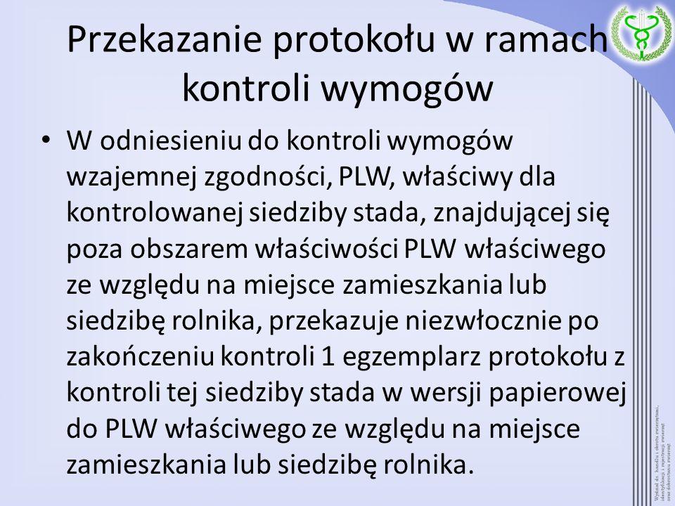 Przekazanie protokołu w ramach kontroli wymogów