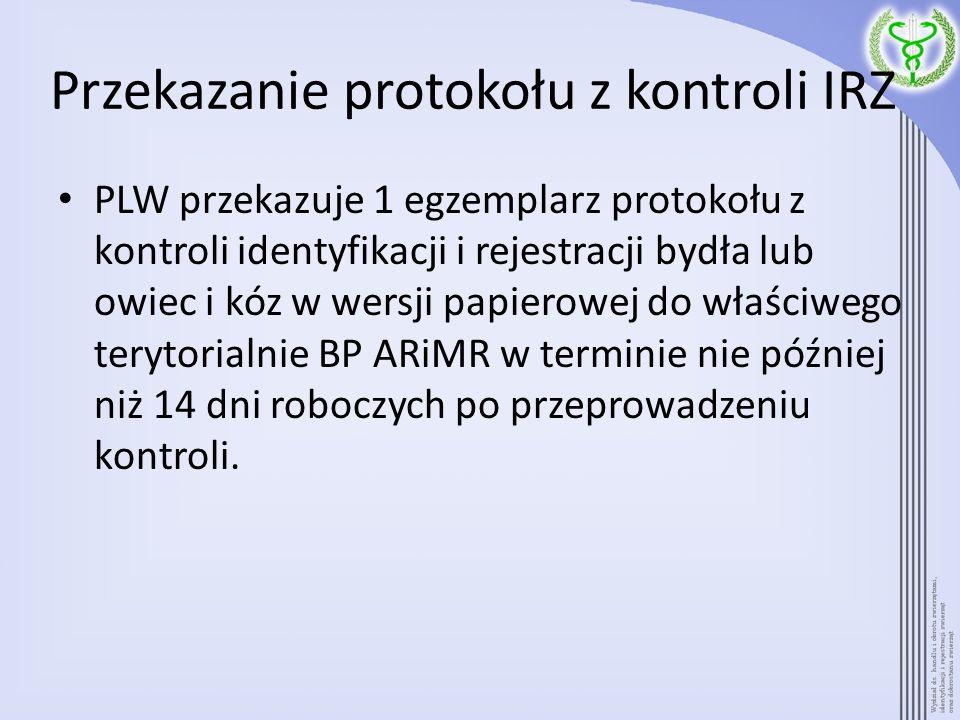 Przekazanie protokołu z kontroli IRZ