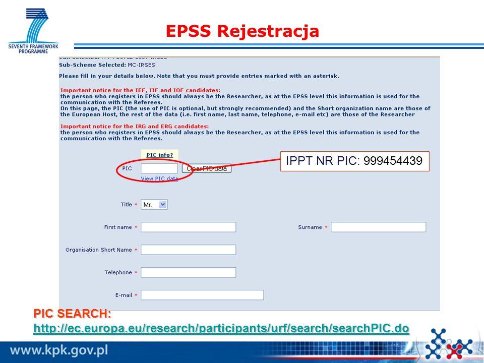 EPSS Rejestracja IPPT NR PIC: 999454439