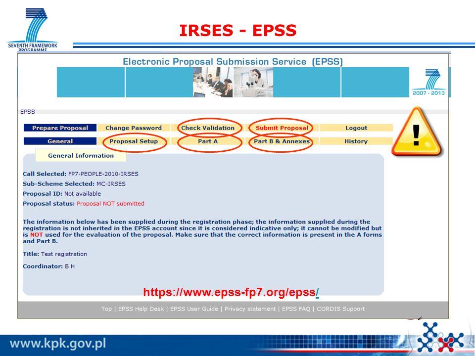 IRSES - EPSS https://www.epss-fp7.org/epss/