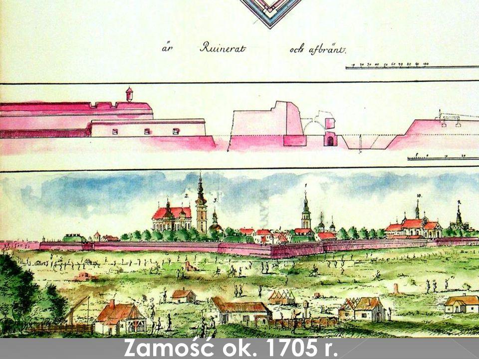 Zamość ok. 1705 r.