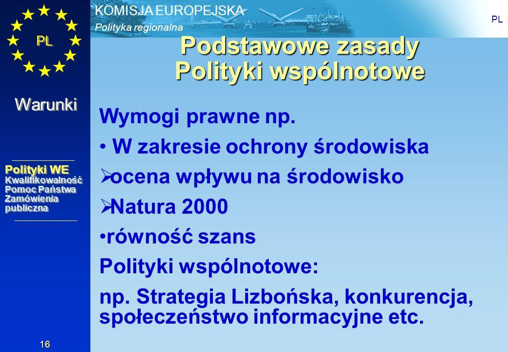 Podstawowe zasady Polityki wspólnotowe