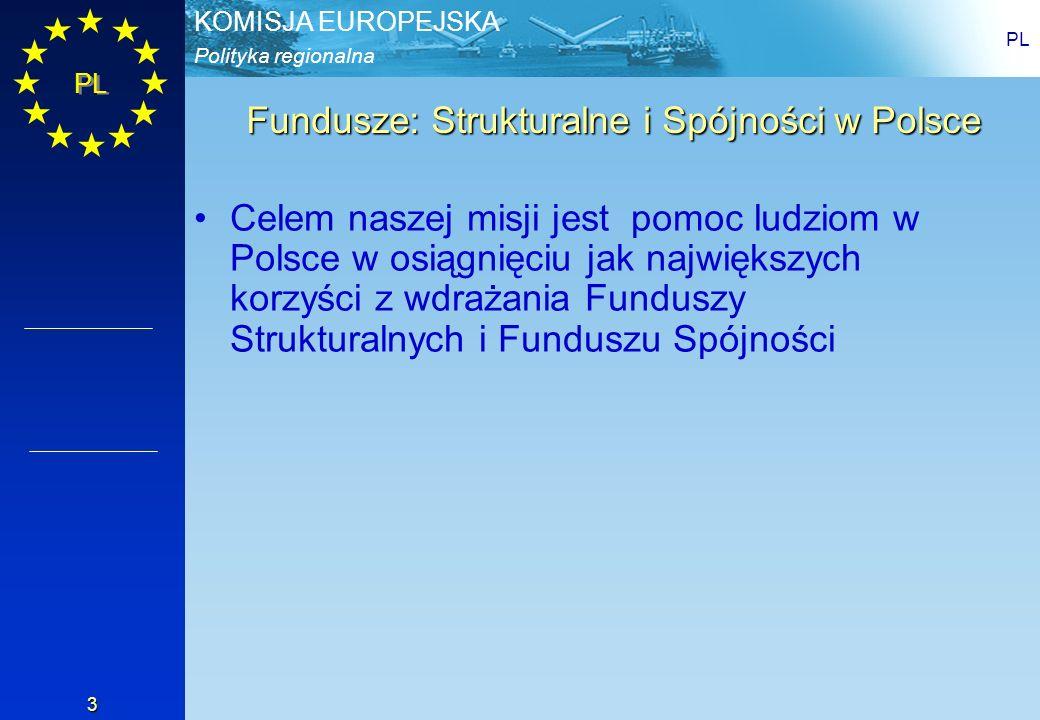 Fundusze: Strukturalne i Spójności w Polsce