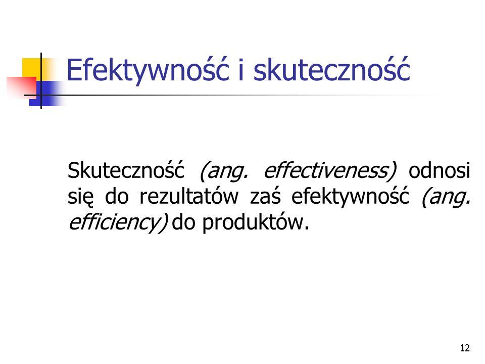 Efektywność i skuteczność