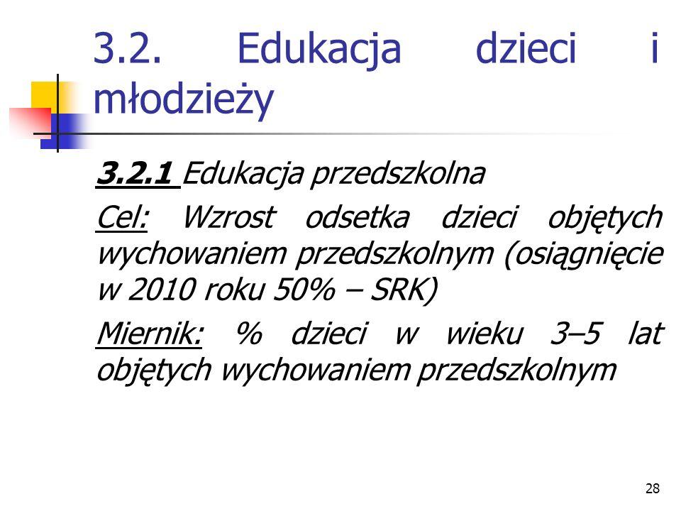 3.2. Edukacja dzieci i młodzieży