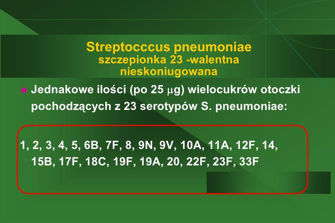 Streptocccus pneumoniae szczepionka 23 -walentna nieskoniugowana