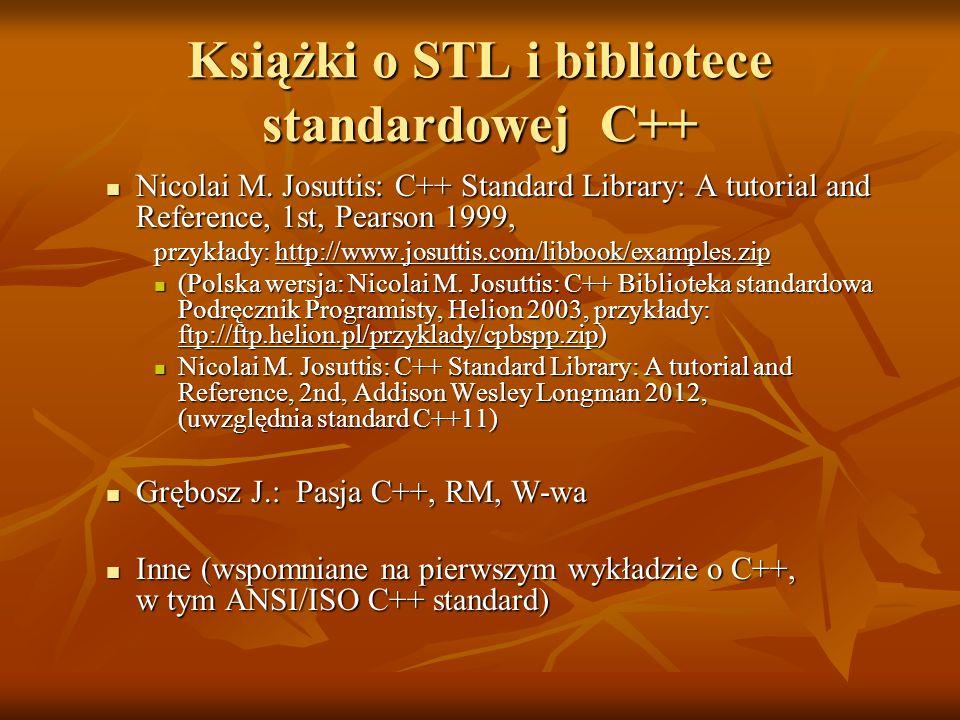 Książki o STL i bibliotece standardowej C++