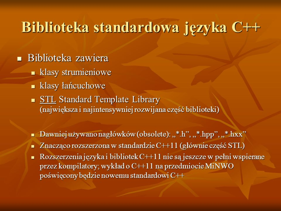 Biblioteka standardowa języka C++