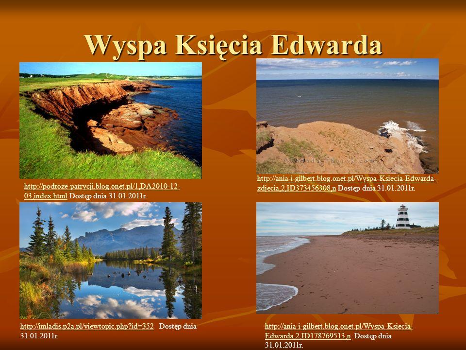 Wyspa Księcia Edwarda http://ania-i-gilbert.blog.onet.pl/Wyspa-Ksiecia-Edwarda-zdjecia,2,ID373456308,n Dostęp dnia 31.01.2011r.