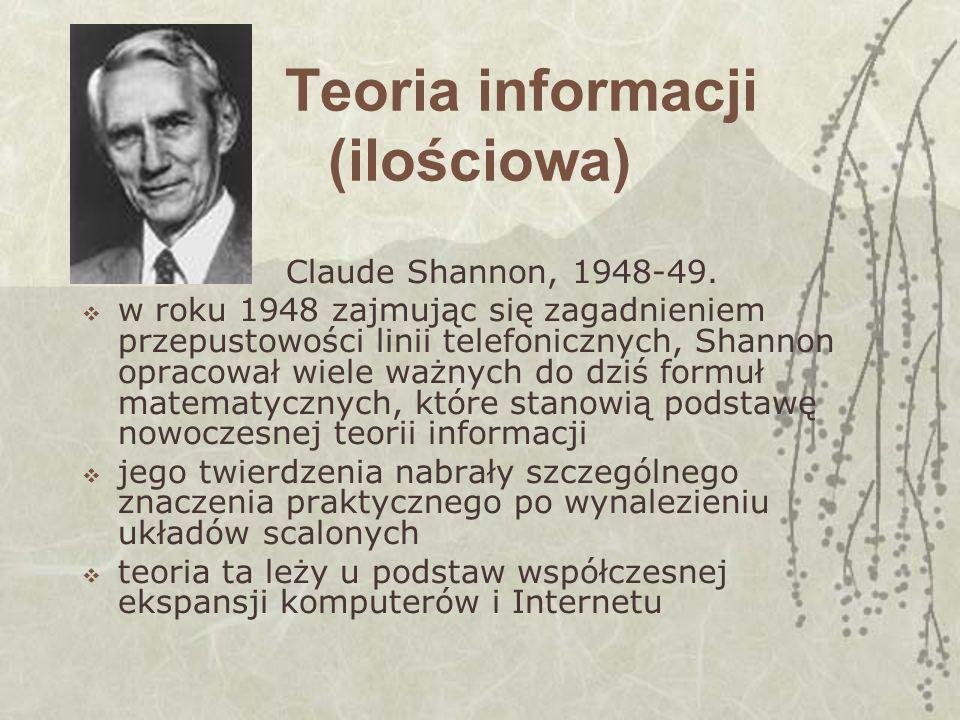 Teoria informacji (ilościowa)