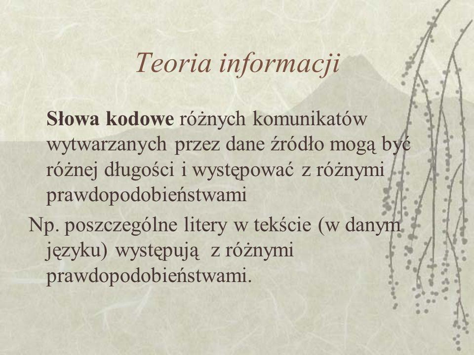 Teoria informacji