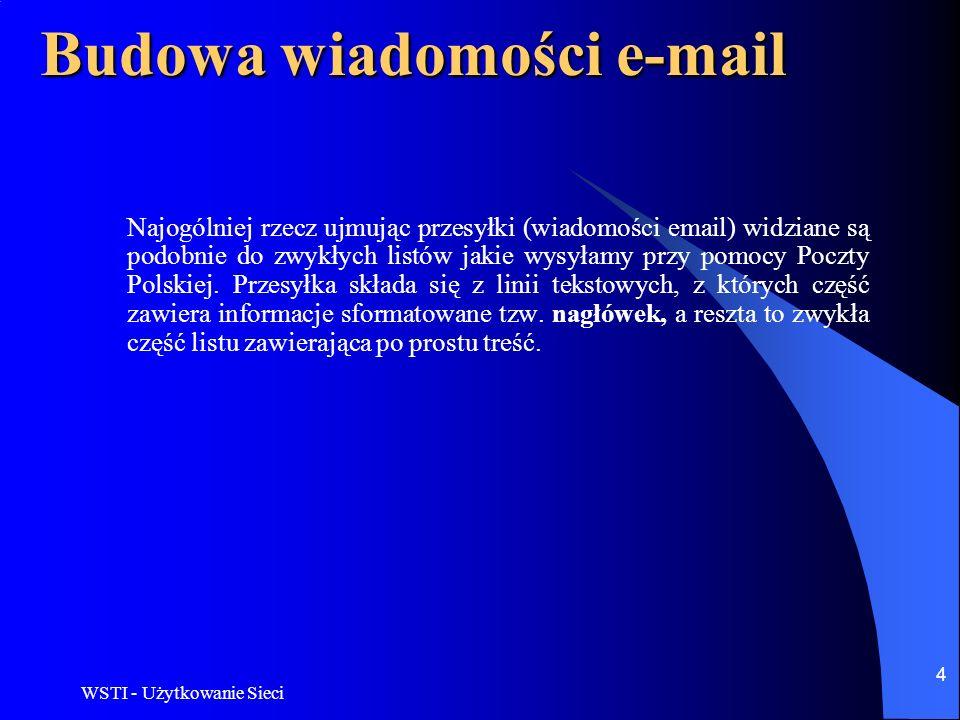 Budowa wiadomości e-mail