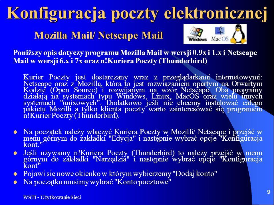 Konfiguracja poczty elektronicznej