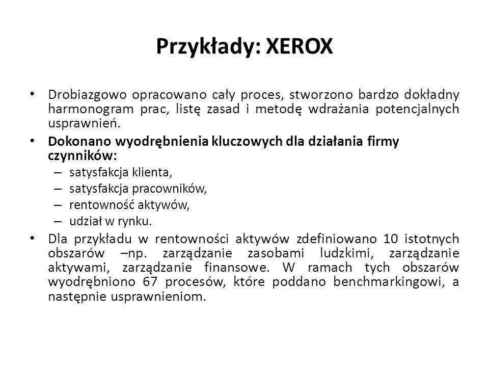 Przykłady: XEROX