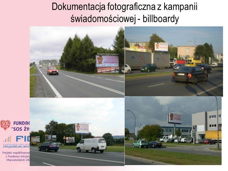 Dokumentacja fotograficzna z kampanii świadomościowej - billboardy