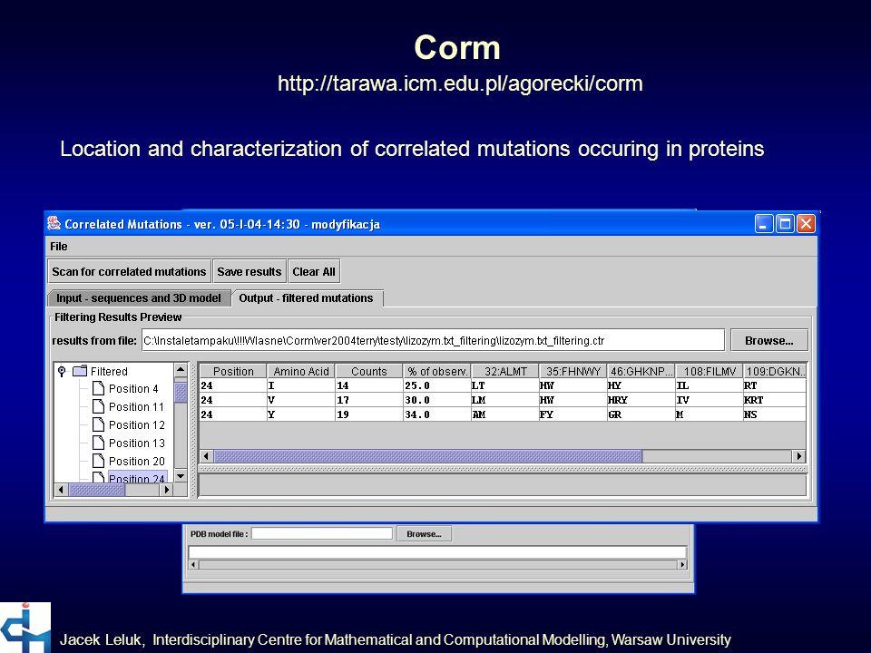 Corm http://tarawa.icm.edu.pl/agorecki/corm