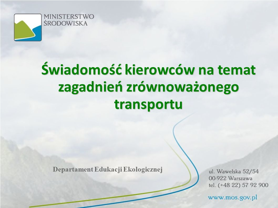 Świadomość kierowców na temat zagadnień zrównoważonego transportu