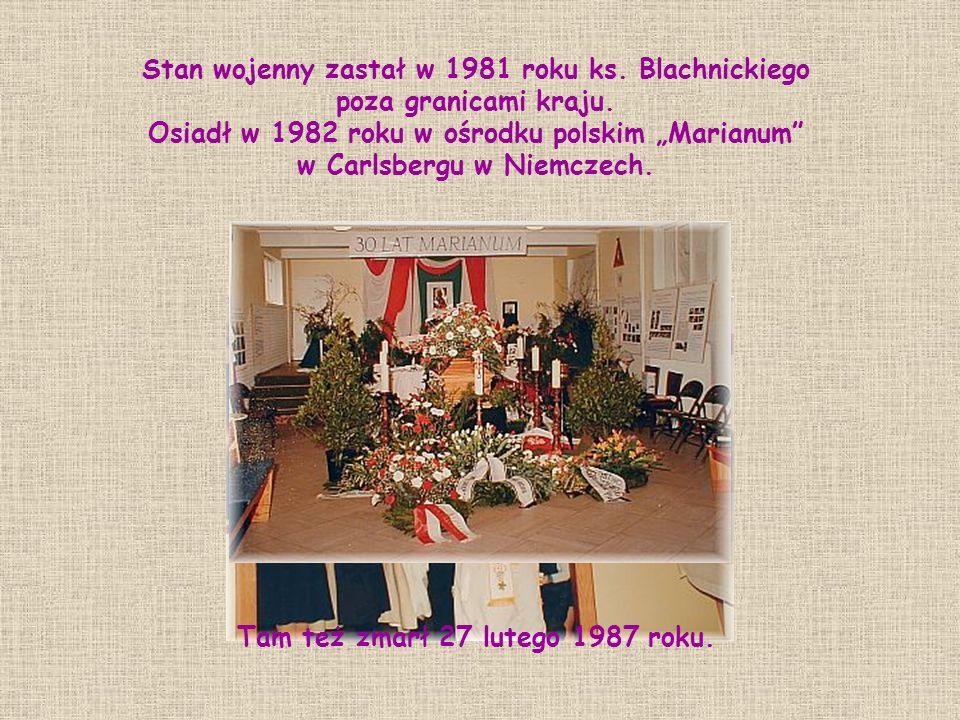Tam też zmarł 27 lutego 1987 roku.
