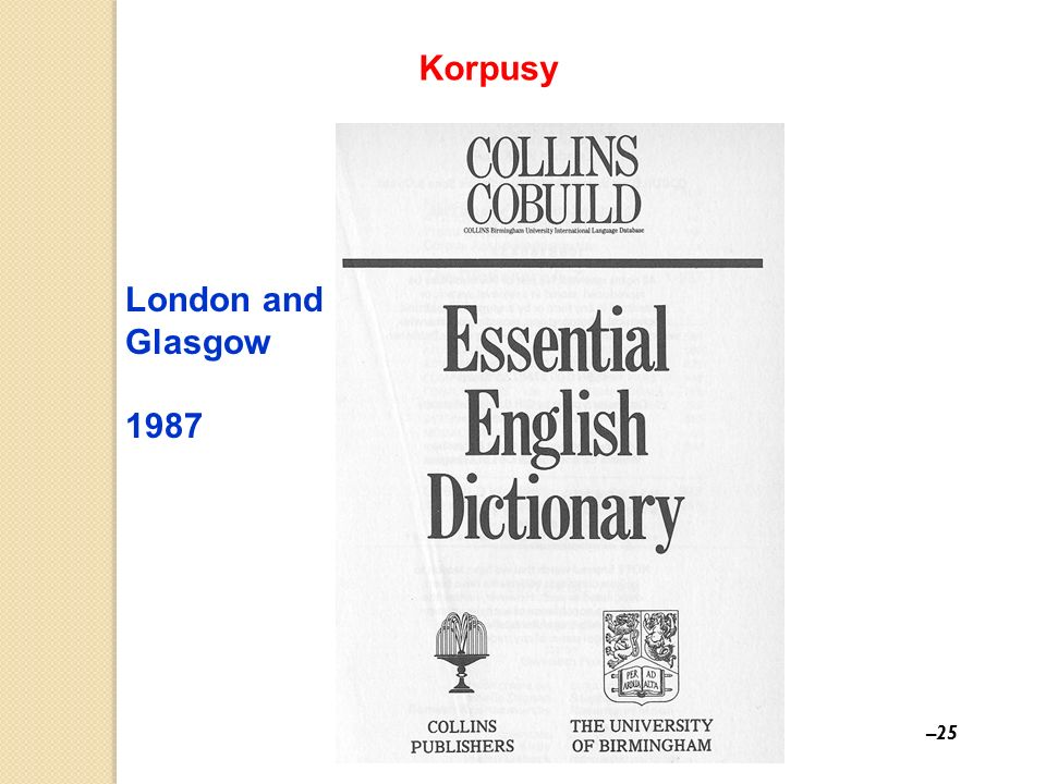 Korpusy London and Glasgow 1987 25 25