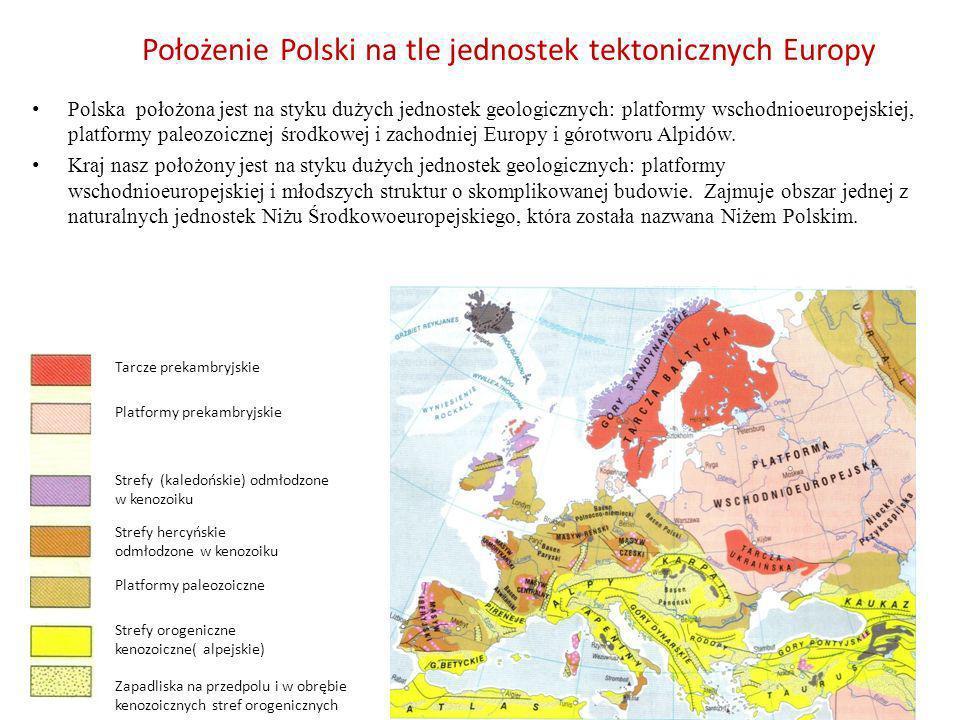 Położenie Polski na tle jednostek tektonicznych Europy