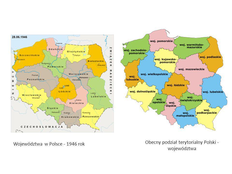 Obecny podział terytorialny Polski - województwa