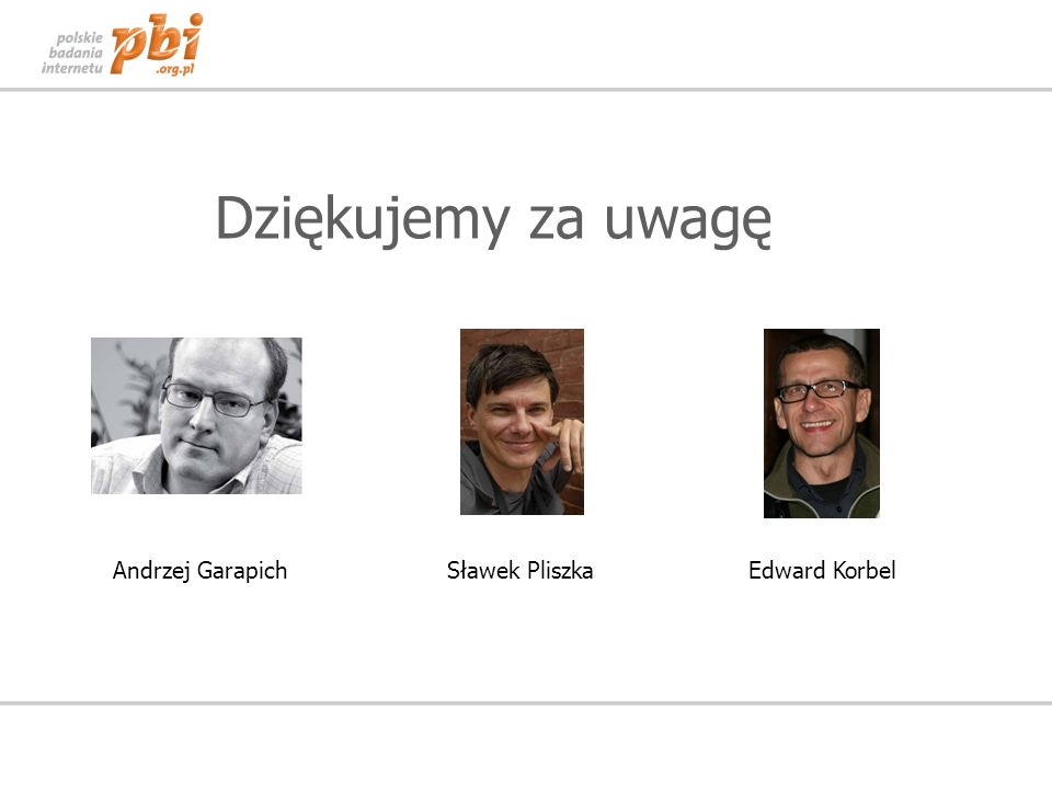Dziękujemy za uwagę Andrzej Garapich Sławek Pliszka Edward Korbel