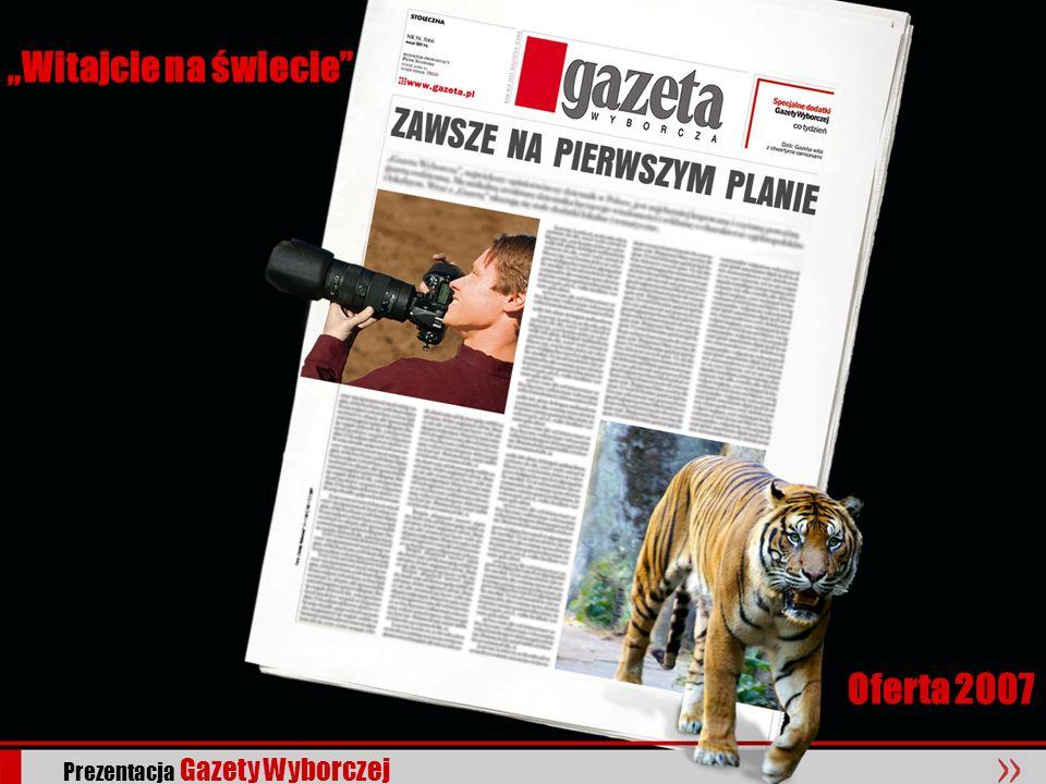 """""""Witajcie na świecie Oferta 2007 Prezentacja Gazety Wyborczej"""