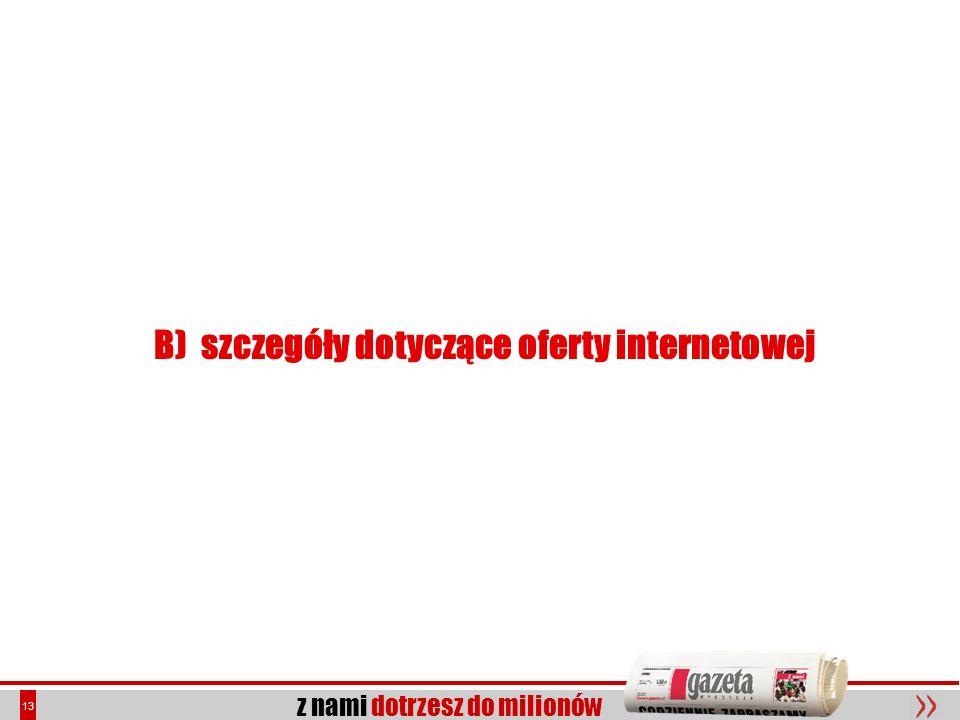 B) szczegóły dotyczące oferty internetowej