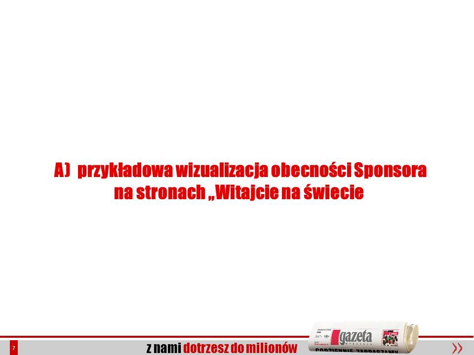 A) przykładowa wizualizacja obecności Sponsora