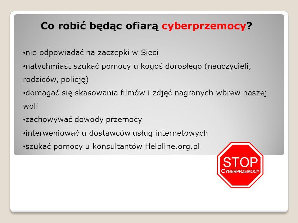 Co robić będąc ofiarą cyberprzemocy