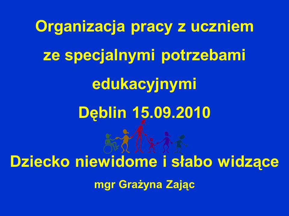 Organizacja pracy z uczniem ze specjalnymi potrzebami edukacyjnymi